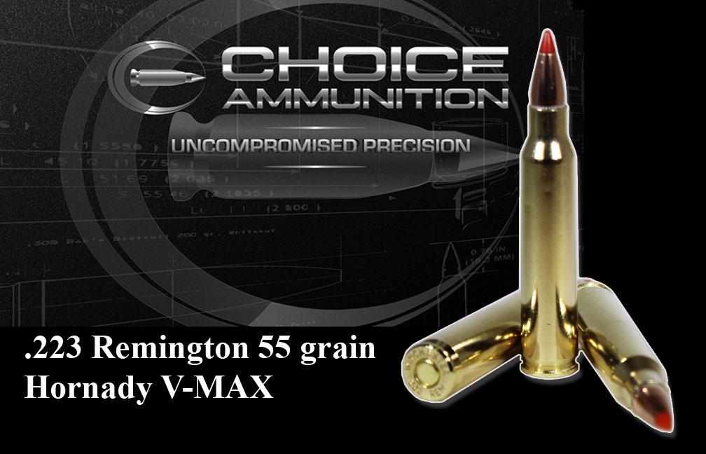 223 Remington 55 grain Hornady V-Max 100% Hand Loaded !!