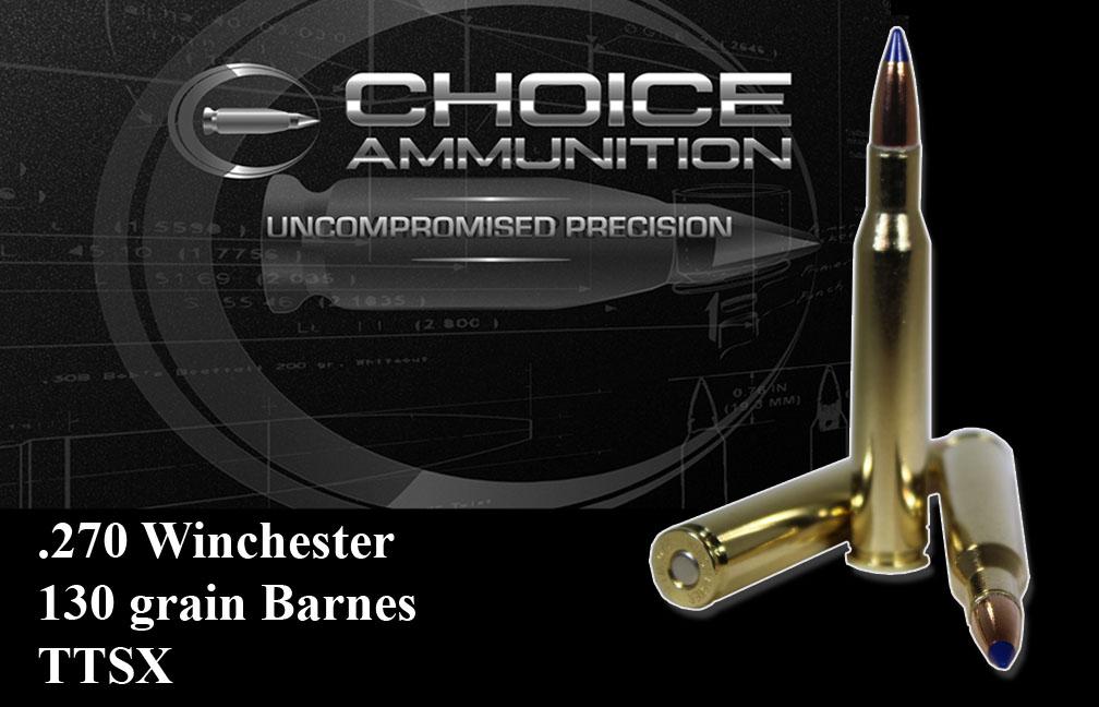 270 Caliber Winchester Short Magnum 130 Grain Barnes Ttsx Lead Free 100 Hand Loaded