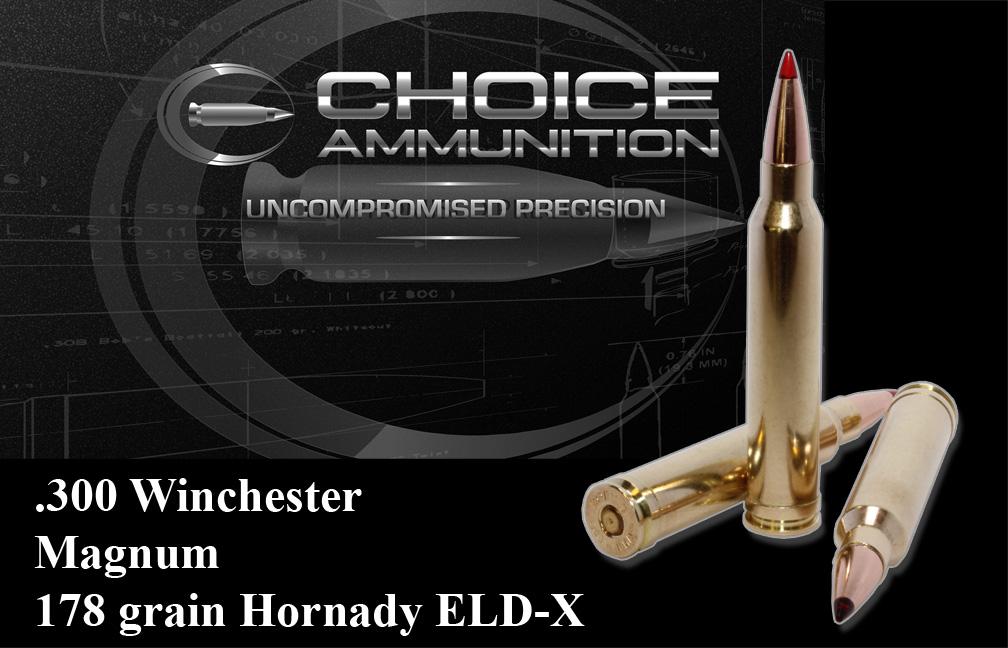 300 Winchester Short Magnum (WSM) 178 grain Hornady ELD-X~Hunting 100%  Hand Loaded !!