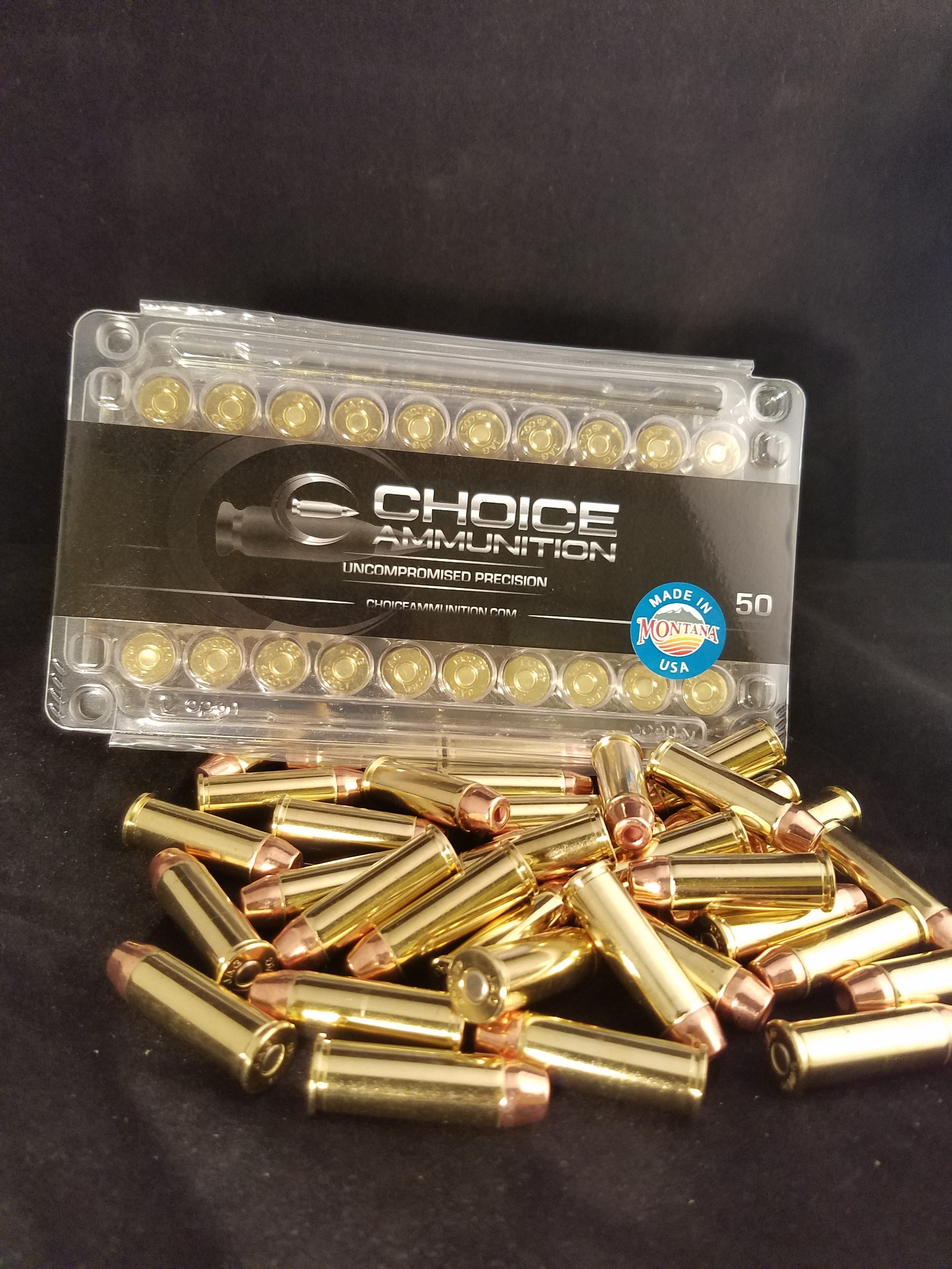 44 Magnum 240 grain plated target hollow point 100% hand-loaded!!